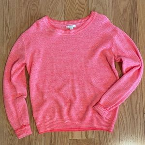 Forever 21 Pink Crewneck Knit Sweater